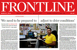 Monsoon drought interview on Frontline Magazine