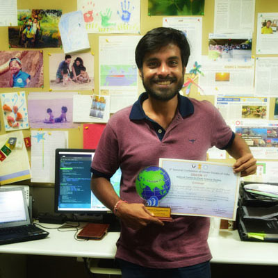 Best Poster Award at OSICON 17 for Panini Dasgupta